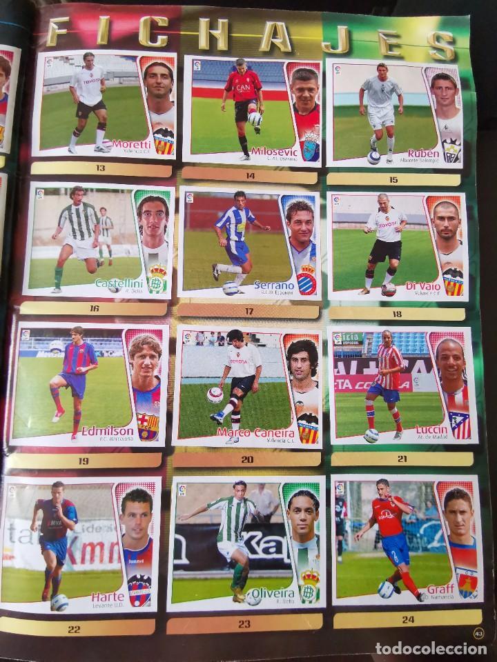 Coleccionismo deportivo: ALBUM CROMOS FUTBOL EDICIONES ESTE 04 05 LIGA 2004 2005 MESSI ROOKIE COLOCA EN VENTANILLA 509 CROMOS - Foto 53 - 218707542