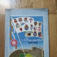 Coleccionismo deportivo: ÁLBUM DEPORTIVO CROMOS FÚTBOL LA COLONIAL 1955 1956 VACÍO. Lote 218771465