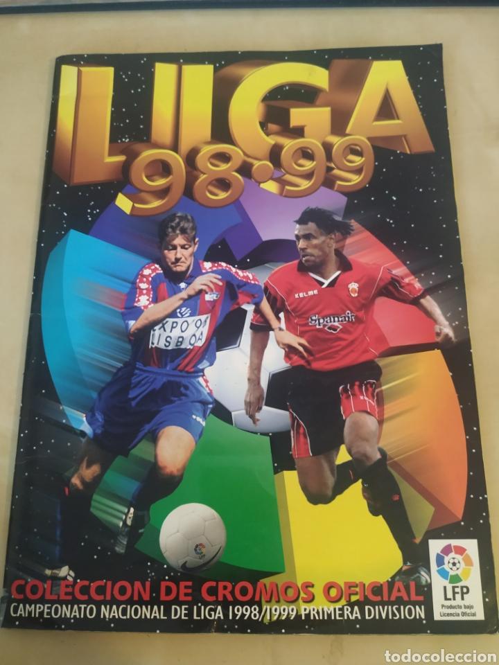 ÁLBUM LIGA ESTE 98 99 - 469 CROMOS, COLOCAS, BAJAS, SERENA (LAS DOS VERSIONES). (Coleccionismo Deportivo - Álbumes y Cromos de Deportes - Álbumes de Fútbol Incompletos)
