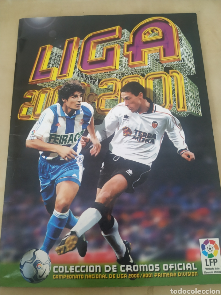 ÁLBUM LIGA ESTE 00 01 - 398 CROMOS, COLOCAS, DIFÍCILES COMO GERARD ... (Coleccionismo Deportivo - Álbumes y Cromos de Deportes - Álbumes de Fútbol Incompletos)