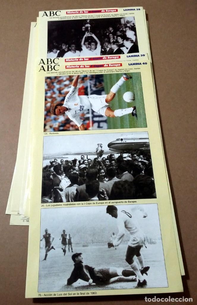 REAL MADRID. HISTORIA DE LAS 7 COPAS DE EUROPA.(LE FALTAN 6 LAMINAS) (Coleccionismo Deportivo - Álbumes y Cromos de Deportes - Álbumes de Fútbol Incompletos)