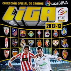 Collezionismo sportivo: ALBUM NUEVO Y VACÍO + 50 SOBRES PROMOCIONALES DE REGALO-EDICIONES ESTE 2012-2013. Lote 219810557