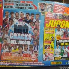 Coleccionismo deportivo: BLISTER PRECINTADO ALBUM PLANCHA LOS 100 CRACKS DEL JUGON MAS REVISTA JUGON Nº 97 MAS 24 CROMOS. Lote 220704228