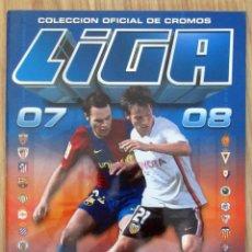 Coleccionismo deportivo: ALBUM EDICIONES ESTE PANINI 2007-08 LIGA 2007 2008 CASI VACIO. Lote 221455383