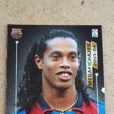Colecionismo desportivo: MEGAFICHAS 2003/2004 – 504 RONALDINHO ( MEGAFICHAJE ) - FC. BARCELONA - 03/04 174. Lote 221478963