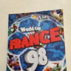 Coleccionismo deportivo: ÁLBUM WORLD CUP FRANCE 98 INCOMPLETO ( FALTAN SOLO 23 CROMOS ). Lote 221718666