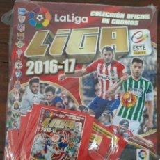 Coleccionismo deportivo: ALBUM FUTBOL LIGA ESTE 2016/2017 - PANINI - CONTIENE 10 SOBRES DE CROMOS (PRECINTADO). Lote 222220152