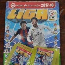 Coleccionismo deportivo: ALBUM FUTBOL LIGA ESTE 2017/2018 - PANINI - CONTIENE 10 SOBRES DE CROMOS (PRECINTADO). Lote 222220248