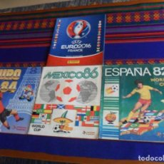 Coleccionismo deportivo: PANINI MUNDIAL FÚTBOL ESPAÑA 82, MEXICO 86, EURO EUROCOPA FRANCIA 84 INCOMPLETO. REGALO FRANCIA 16.. Lote 222259155
