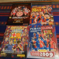 Coleccionismo deportivo: PANINI COLECCIÓN OFICIAL CROMOS FC BARCELONA 2008 2009, 2009 2010, 2010 2011. REGALO GIRONA FC 17 18. Lote 222261062