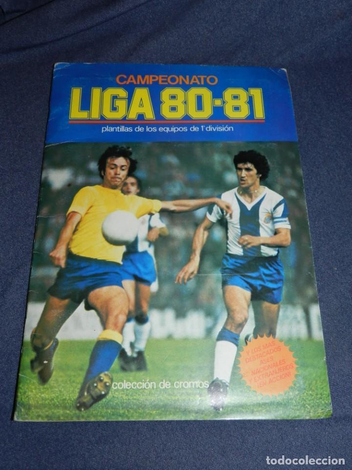 ALBUM CAMPEONATO LIGA 80 81 , EDC ESTE , FALTAN 62 CROMOS, HAY 18 COLOCAS, SEÑALES DE USO (Coleccionismo Deportivo - Álbumes y Cromos de Deportes - Álbumes de Fútbol Incompletos)