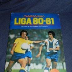 Coleccionismo deportivo: ALBUM CAMPEONATO LIGA 80 81 , EDC ESTE , FALTAN 62 CROMOS, HAY 18 COLOCAS, SEÑALES DE USO. Lote 222434865