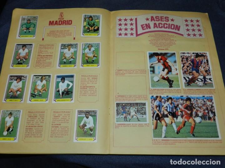 Coleccionismo deportivo: ALBUM CAMPEONATO LIGA 80 81 , EDC ESTE , FALTAN 62 CROMOS, HAY 18 COLOCAS, SEÑALES DE USO - Foto 8 - 222434865