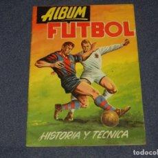 Coleccionismo deportivo: ALBUM FUTBOL HISTORIA Y TECNICA , EDT EDIGESA 1959 , ALBUM VACIO PLANCHA, BUEN ESTADO. Lote 222545738
