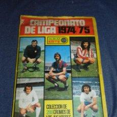 Collectionnisme sportif: ALBUM CAMPEONATO DE LIGA 1974 / 75 ALBUM ESTE, INCOMPLETO, FALTAN 25 CROMOS. Lote 223218072