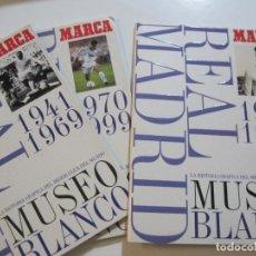Coleccionismo deportivo: REAL MADRID-MARCA-MUSEO BLANCO-3 ALBUMES VACIOS FUTBOL-AÑOS 1902 1999-VER FOTOS-(V-22.378). Lote 223976723
