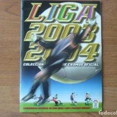 Coleccionismo deportivo: ALBUM LIGA ESTE 03 04 PANINI CASI COMPLETO: 351 CROMOS + 37 FICHAJES + 7 CRACKS - FUTBOL 2003 2004. Lote 251676675
