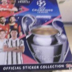 Coleccionismo deportivo: ALBUM .SEASON 2020/21-UEFA CHAMPIONS LEAGUE ... ALBUN SI USAR CON 4 CROMOS PARA PEGAR. Lote 229316915