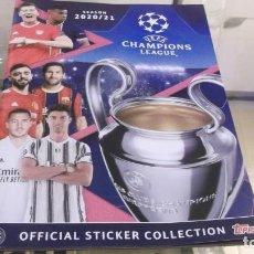 Coleccionismo deportivo: ALBUM .SEASON 2020/21 - UEFA CHAMPIONS LEAGUE - ALBUN SI USAR CON 4 CROMOS PARA PEGAR. Lote 229317520