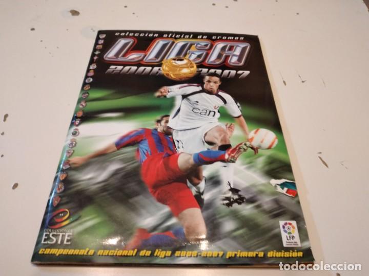 G-59 ALBUM ESTE LIGA FUTBOL 2006 2007 06 07 VER FOTOS PARA ESTADO Y CROMOS (Coleccionismo Deportivo - Álbumes y Cromos de Deportes - Álbumes de Fútbol Incompletos)