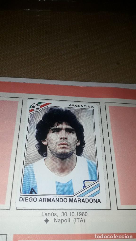 Coleccionismo deportivo: MARADONA EN EL ALBUM MÉXICO 86 DE PANINI - Foto 3 - 230417885