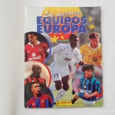 Coleccionismo deportivo: ÁLBUM CROMOS PANINI LOS MEJORES EQUIPOS DE EUROPA 96/97 CON RONALDO (BARCELONA), HENRY (MÓNACO),.... Lote 231491580