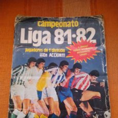 Collezionismo sportivo: ÁLBUM CAMPEONATO DE LIGA 81- 82. INCOMPLETO CON CROMOS DE AGUIRREGOA, VÍCTOR, GERARDO, CASTELL.... Lote 231976155