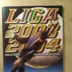 Coleccionismo deportivo: ÁLBUM LIGA ESTE 03 04 - 325 CROMOS + ALINEACIONES LA RAZÓN + 5 NUTELLA. Lote 232889480
