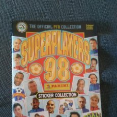 Coleccionismo deportivo: ÁLBUM VACÍO PLANCHA CROMO STICKER COLLECTION SUPER PLAYERS 98 PANINI PREMIER LEAGUE INGLATERRA 1998. Lote 233352650