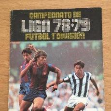Coleccionismo deportivo: LIGA 78 79 FUTBOL EDICIONES ESTE ALBUM DE CROMOS CASI VACIO CASI PLANCHA EN PERFECTO ESTADO. Lote 234635040