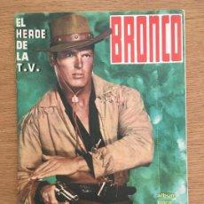 Coleccionismo deportivo: BRONCO EL HEROE DE LA TV EDITORIAL FHER ALBUM DE CROMOS VACIO PLANCHA EN PERFECTO ESTADO. Lote 234640170