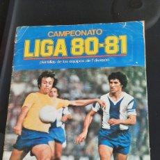 Colecionismo desportivo: ALBUM DESGUACE LIGA 80/81 PARA APROVECHAR. Lote 235272785