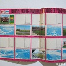Coleccionismo deportivo: EQUIPOS ESCUDOS BANDERAS Y ESTADIOS 1ª DIVISION-ALBUM INCOMPLETO-CROMOS FUTBOL-VER FOTOS-(V-22.479). Lote 237558485