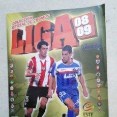 Coleccionismo deportivo: ALBUM INCOMPLETO LIGA 2008-2009, EDICIÓN ESTE ( FALTAN MUY POCAS ). Lote 237943350