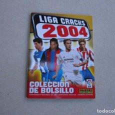 Coleccionismo deportivo: PANINI ALBUM CHICLE LIGA 03 04 LIGA CRACKS 2004 COLECCION DE BOLSILLO 2003 NUEVO. Lote 238104120