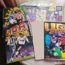 Coleccionismo deportivo: LOTE 6 ALBUMS - AÑOS 90 Y 00 - EDICIONES ESTE - 2543 CROMOS PEGADOS - ALGUNOS CASI COMPLETOS. Lote 227694660