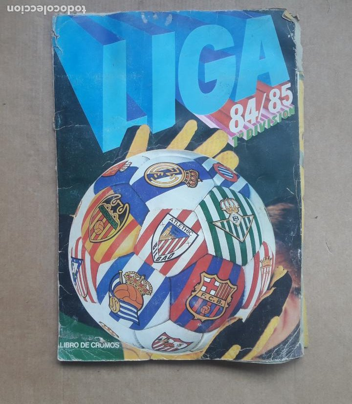 ALBUM CROMOS LIGA FÚTBOL 1984 1985 LIGA ESTE 84 85 (Coleccionismo Deportivo - Álbumes y Cromos de Deportes - Álbumes de Fútbol Incompletos)