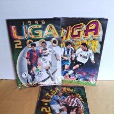 Coleccionismo deportivo: LOTE 3 ÁLBUMES EDICIONES ESTE - 1999/2000, 2000/2001, 2001/2002 - INCOMPLETOS LEER DESCRIPCION. Lote 242027325