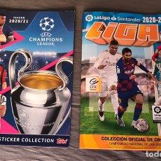 Coleccionismo deportivo: PACK 2 ÁLBUMES VACÍOS LIGA Y CHAMPIONS 2020-2021. Lote 243568850
