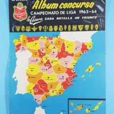 Coleccionismo deportivo: ALBUM CONCURSO CAMPEONATO DE LIGA 1963 - 64 GENTILEZA DE LA CASERA, OJO SOLO LAS TAPAS, FUTBOL. Lote 243871200