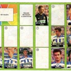 Coleccionismo deportivo: ALBUM DEL CHICLE LA LIGA DE LAS ESTRELLAS 96/97 / CELTA DE VIGO. Lote 243899800