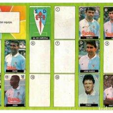 Coleccionismo deportivo: ALBUM DEL CHICLE LA LIGA DE LAS ESTRELLAS 96/97 / SOCIEDAD DEPORTIVA COMPOSTELA. Lote 243901080