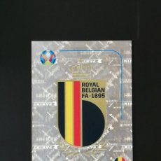 Coleccionismo deportivo: #BEL 1 ESCUDO BELGICA BELGIUM UEFA EURO 2020 20 PREVIEW PANINI. Lote 244726490