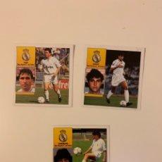 Coleccionismo deportivo: LOTE 3 CROMOS REAL MADRID 92 93. LIGA ESTE 1992 93. Lote 244957345