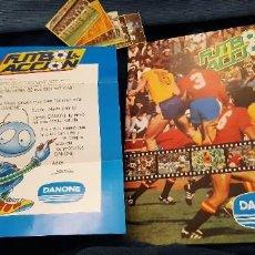 Coleccionismo deportivo: RARO NO PUBLICADO FOLLETO RESPUESTA PETICIÓN CROMOS IMARCHI DANONE FUTBOL EN ACCIÓN Y ALBUM PLANCHA. Lote 245101355
