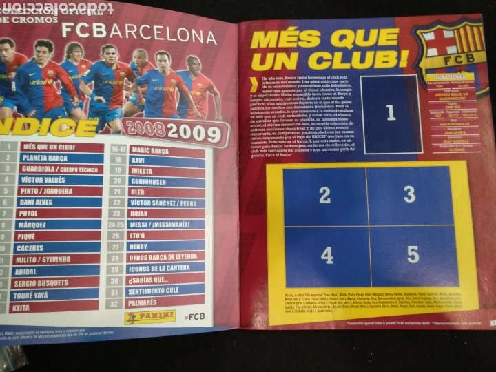Coleccionismo deportivo: Álbum F.C Barcelona 2008-2009, incompleto con cromos de Messi - Foto 2 - 245963535