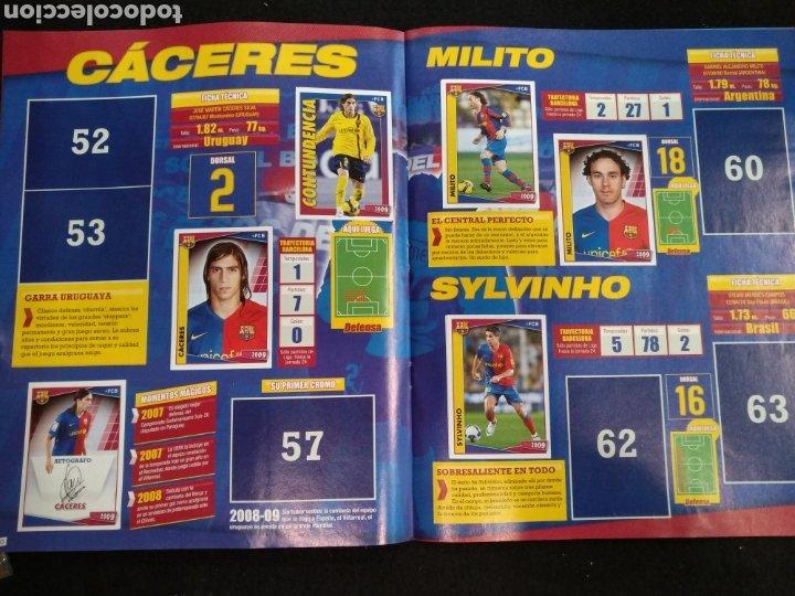 Coleccionismo deportivo: Álbum F.C Barcelona 2008-2009, incompleto con cromos de Messi - Foto 7 - 245963535
