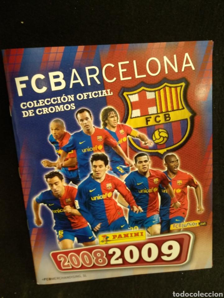 ÁLBUM F.C BARCELONA 2008-2009, INCOMPLETO CON CROMOS DE MESSI (Coleccionismo Deportivo - Álbumes y Cromos de Deportes - Álbumes de Fútbol Incompletos)