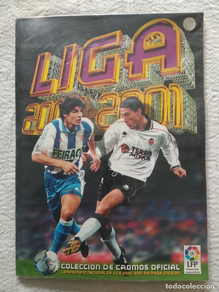 ALBUM CASI COMPLETO EDICIONES ESTE LIGA 00 01 2000 2001 VER FOTOS COMPLETAS (Coleccionismo Deportivo - Álbumes y Cromos de Deportes - Álbumes de Fútbol Incompletos)