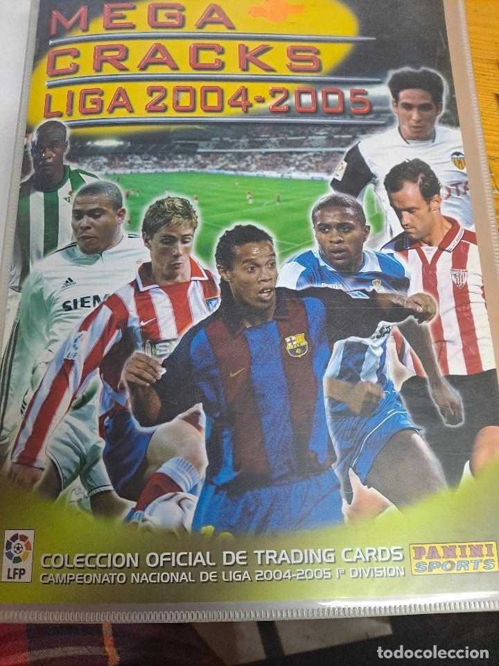 MEGACRACKS 2004/2005 COLECCION CASI COMPLETA (Coleccionismo Deportivo - Álbumes y Cromos de Deportes - Álbumes de Fútbol Incompletos)